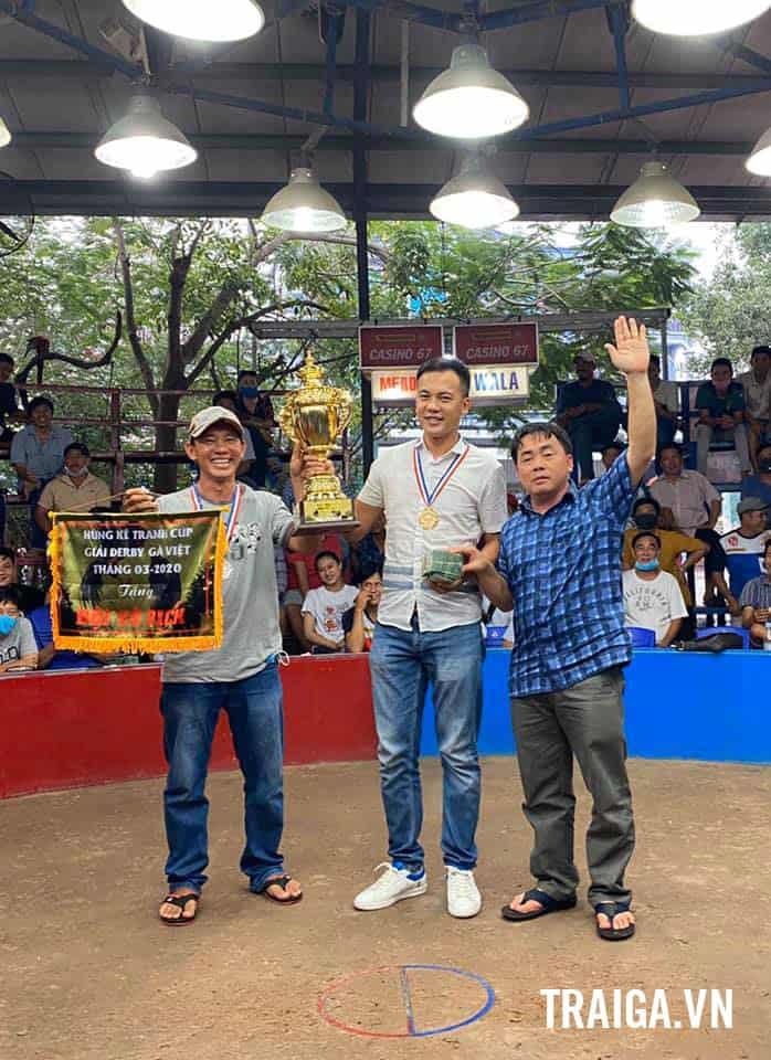 Chúc mừng Tính Gaking và chú Mỹ BT đồng vô địch giải Derby 4 gà Việt Bồ 67 hôm nay.